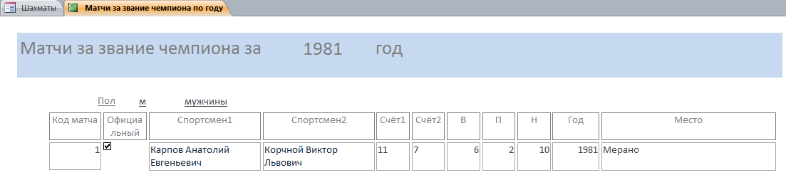 Отчёт Матчи за звание чемпиона по шахматам.
