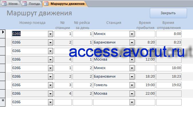 Готовая база данных «Заказ билетов на поезд». База данныхжд вокзалаaccess