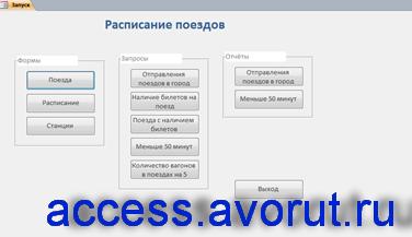 Access Расписание поездов дальнего следования база данных скачать; программа бд отправление поездов дальнего следования;база данныхжд вокзалаaccess