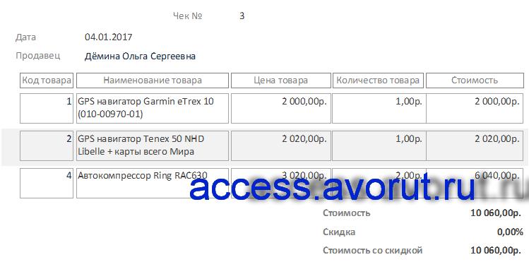 аналог базы данных магазина продуктов - бд Access Магазин автоаксессуаров (автозапчастей)