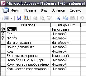 курсовая база данных бухгалтера частного предприятия access